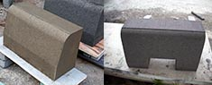 Curb Stone Making Machine making the best curb stone shape , better than manual molds