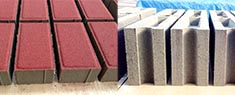 Colored Paver and Solid Concrete Block