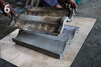 Pallet Maker for making concrete pallets for concrete roof production